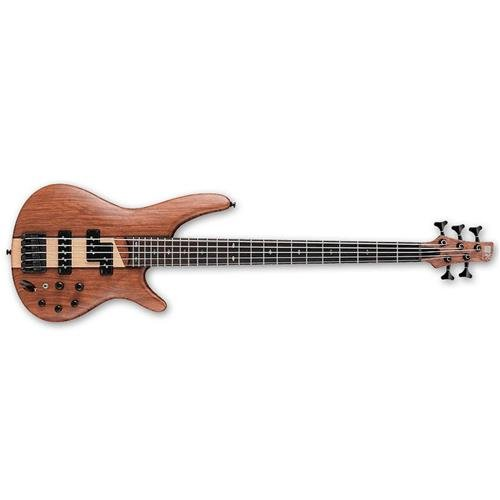 (Ibanez SR755 5-String Electric Bass Guitar Flat Natural )
