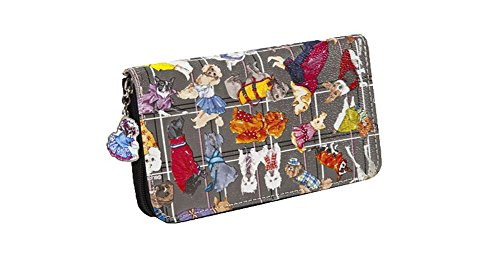 Sydney Love Diva Dogs Zip Around Wallet, Multi by Sydney Love