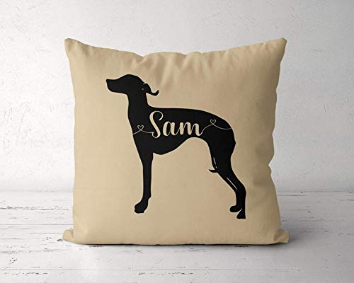 Wini2342ckey Custom Greyhound Pillow, Personalized Greyhound Pillow Case, Greyhound Pillow Cover, Birthday Gift for Greyhound Lover Owner