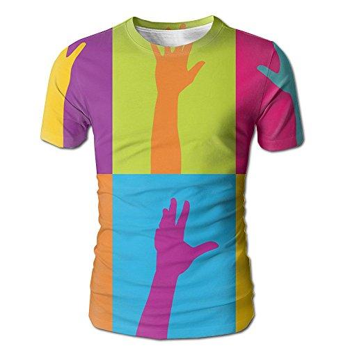 FASHION N WORLD Mens colorful Volunteer Hands Comfy T-Shirt For Gym Jogging Tees - Show Fashion Las Hours Vegas