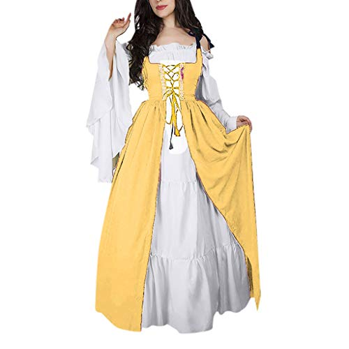 (Birdfly Vintage Renaissance Petal Medieval Retro Princess Dress 50s Nobility Cosplay Dress Plus Size 3L 4L 5L (4XL, Black))