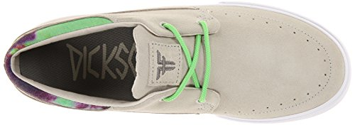 Zapatillas Fallen: Fallen Roach Shoes Black/Gum BK/MC Newsprint Gray/Psych Green