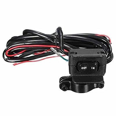 ZHUOTOP Heavy Duty Handlebar Control Line Winch Rocker Switch Handlebar Control Warn For ATV/UTV: Automotive