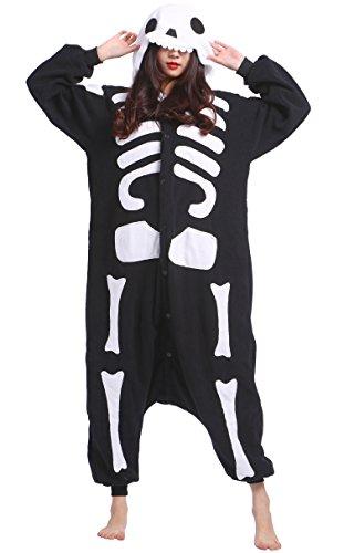 Pajamas Onesie Adult Skeleton Cartoon Animal Cosplay Sleepsuit Unisex ()