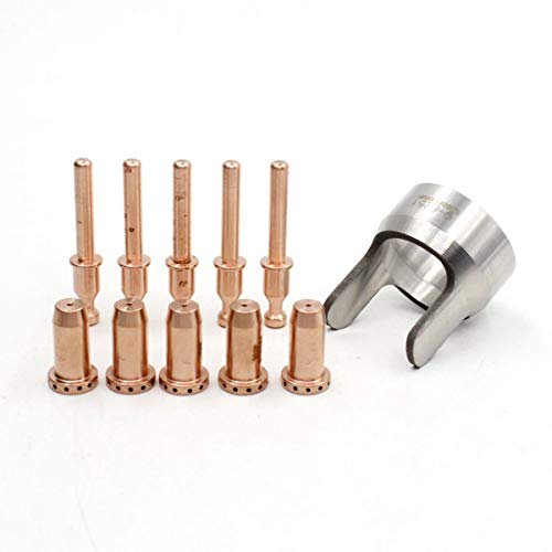 9-8251 9-0096 9-0094 Plasma Cutting Electrode Nozzle Stand off Fit Thermal Dynamic SL40 Torch 11pcs ()