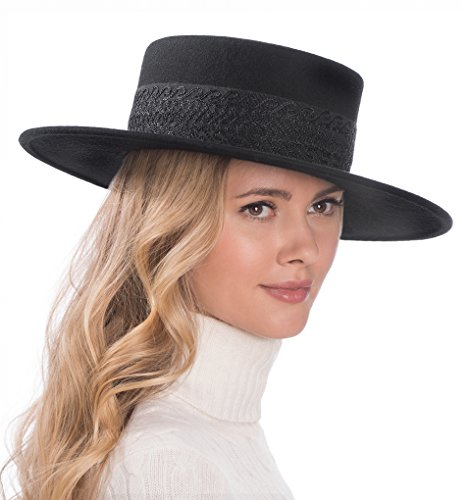 Eric Javits Luxury Fashion Designer Women's Headwear Hat - Wool Gaucho - Black by Eric Javits