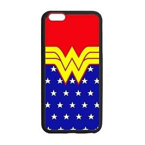 Wonder Woman Logo Symbol Case Custom Durable Hard Cover Case for iphone 4 4s - es case - Black Case