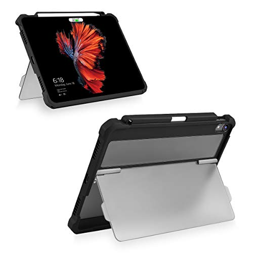 Maxjoy Case for 2018 iPad Pro 12.9 inch 3rd Gen, iPad Pro 12.9 Case, [Support Pencil Charging], Shockproof iPad 12.9 Protective Cover with Kickstand + Apple Pencil Holder for iPad Pro 12.9
