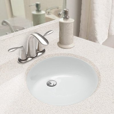 Hahn Ceramic VC006 Medium Oval Ceramic Bathroom Sink, White by Hahn Ceramic by Hahn Ceramic