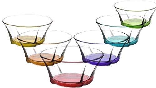 Cuencos de vidrio de colores 190ml