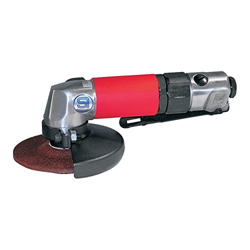 SHINANO SI-2501L 100MM MINI GRINDER PNEUMATIC (AIR) ANGLE GRINDER 12000RPM LEVER THROTTLE by Prasertsteel