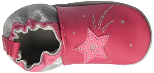 Robeez Baby Mädchen Magic Star Krabbel-& Hausschuhe Pink (Fuchsia)