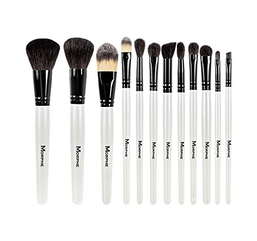 Morphe 12 Piece Black and White Travel Brush Set - Set 706 N