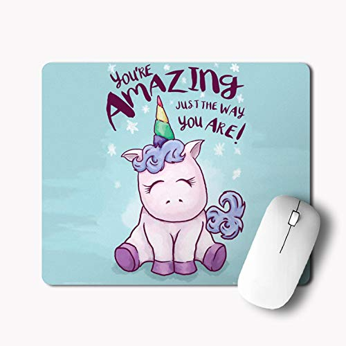 iKraft Unicorn You,re Amazing Just The Way You are Printed Gaming Mouse Pad -Multi-18x22cm,3mm