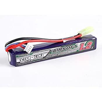 Amazon.com: Turnigy nano-tech 1200mAh 3S 15~30C Lipo AIRSOFT Pack (T-Connector): Toys & Games