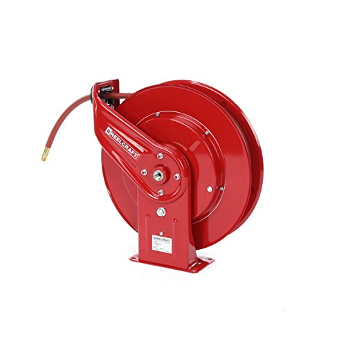 Heavy Duty Spring Rewind Hose Reel, 3/8'' x 70' 300 PSI by Reelcraft