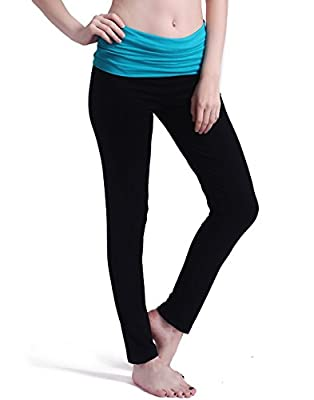 HDE Women's Maternity Yoga Pants Pregnancy Stretch Fold Over Lounge Leggings