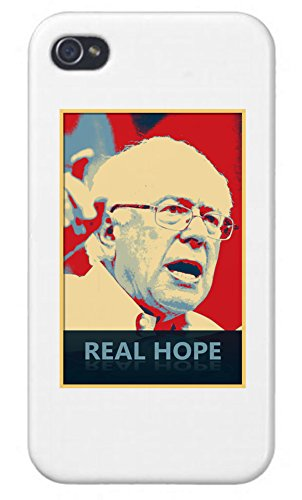 - Apple Iphone Custom Case 5 / 5s White Plastic Snap on - Real Hope - Presidential Candidate Design