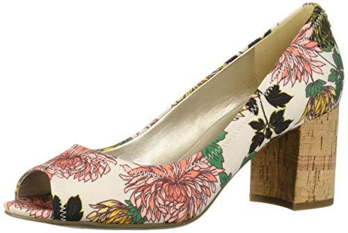 Anne Klein Women's Meredith Pump, Floral 9.5 M US Anne Klein Peep Toe Shoes