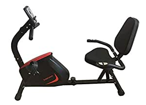 Endurance Recumbent Exercise Bike with 8kg Magnetic Flywheel, Wide Comfort Plus Seat and Heart Rate Monitor. Free Shipping to Most Areas