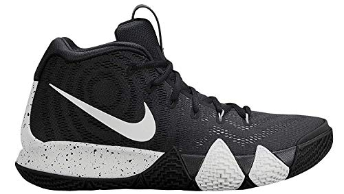 NIKE Men's Kyrie 4TB Basketball Shoes (12, Black/White)