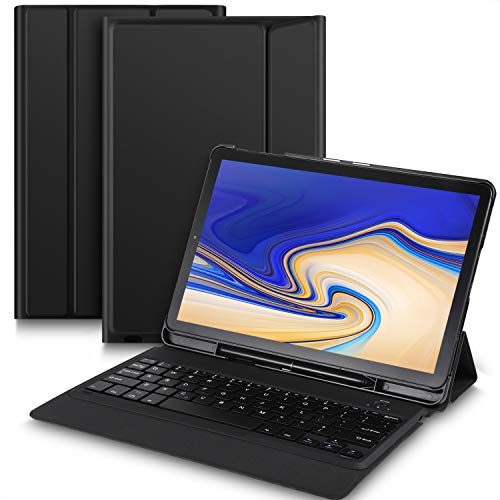 Bosewek Samsung Galaxy Tab S4 10.5 Keyboard Case Ultra-Thin Stand Case with Attached Keyboard for Galaxy Tab S4 10.5 SM-T830 (Wi-Fi) & SM-T835 (4G LTE) Tablet (Black)