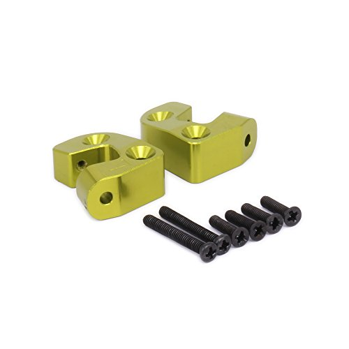 Alloy Rear Arm Mount - RCAWD Rear Suspension Arm Mount Alloy for Rc Hobby Model Car 1-12 Wltoys 12428 12423 2Pcs(Green)