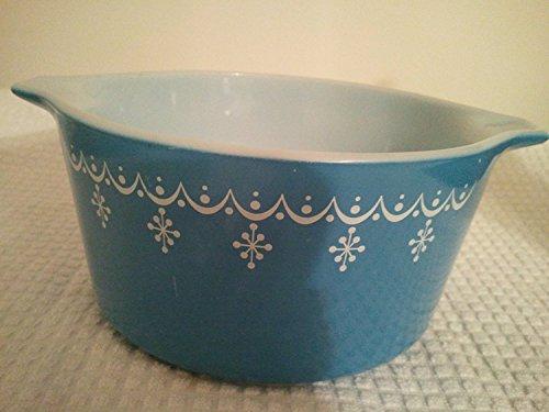 (Vintage Pyrex Snowflake Garland Casserole Dish One Quart No Lid)