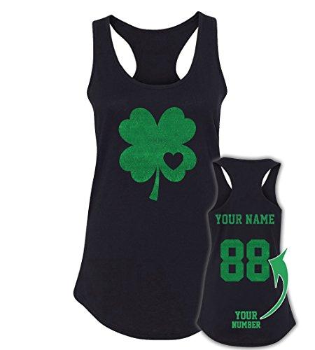 Shiny Glitter Custom Jerseys St Patrick's Day Tank Tops ☘ Saint Pattys Irish -
