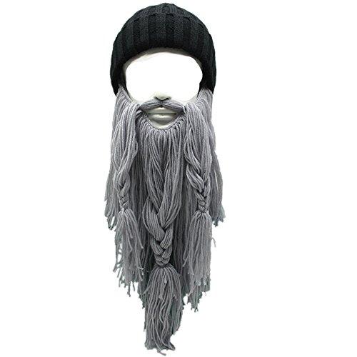 7ad068d39f8 Metyou Adult Viking Beard Beanie Horn Hat Winter Warm Mask Hat Knitted wool  Funny Skull Cap - Buy Online in UAE.