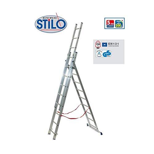 Ausziehbare Leiter aus Aluminium mit zwei Rampen FACAL STILO SL180-2 2, 86 m. Ausziehbare Leiter aus Aluminium mit zwei Rampen FACAL STILO SL180-2 2, 86 m.