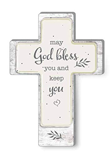 Precious Moments May God Bless You and Keep You Cross 191492, One Size Multi