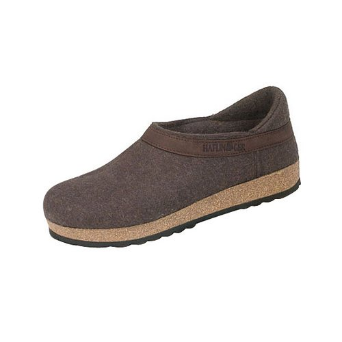 Haflinger Grizzly Closed Heel Smokey Brown 43 M EU (10-10.5 US Men / 12-12.5 US Women) by Haflinger