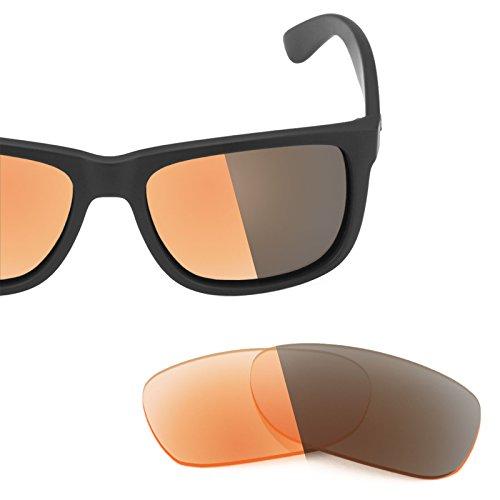 Fotocromático múltiples 54mm para repuesto Justin — Naranja de Lentes RB4165 Elite Ban Adapt Ray Opciones q6vaFR