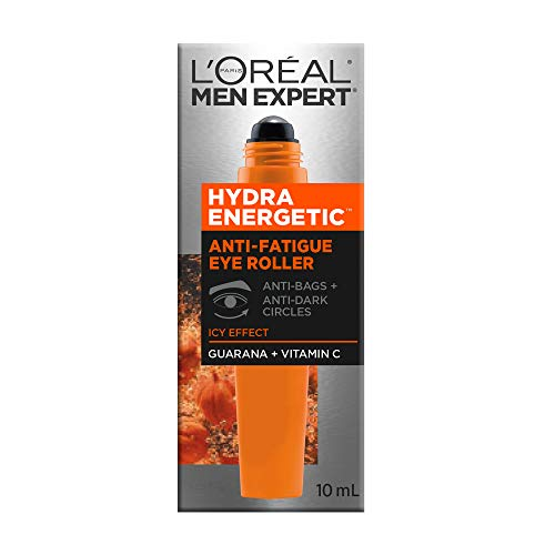 L'Oreal Paris Men Expert Hydra-Energetic, Anti Fatigue Ice Cold Eye Roller With Vitamin C & Caffeine, For Tired Skin, 0.33-Fluid OZ by L'Oreal Paris (Image #1)