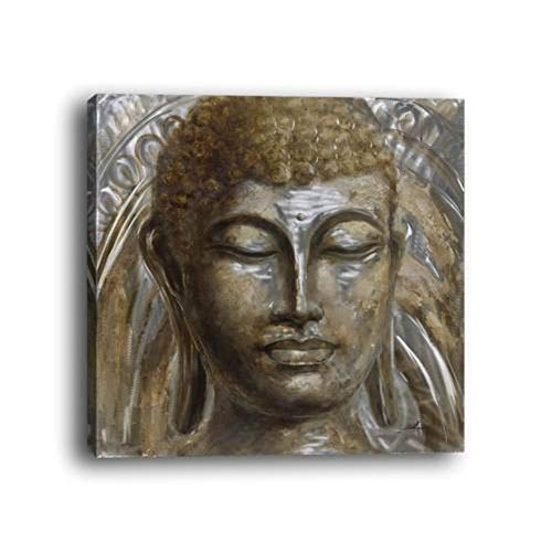 - WOWDECOR Wall Art Modern Canvas Prints Painting - Buddha Statue Giclee Pictures Printed on Canvas, Wall Decor for Home Living Room Bedroom - DIY Frame (Buddha Statue, Large)