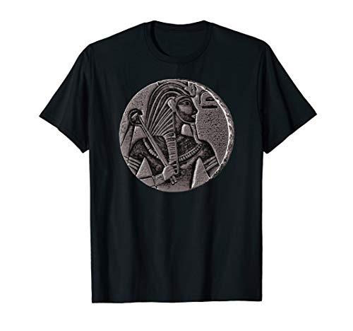 (Vintage Egypt Shirt Art-Egyptian Pharaoh Black Coin King Tut T-Shirt)