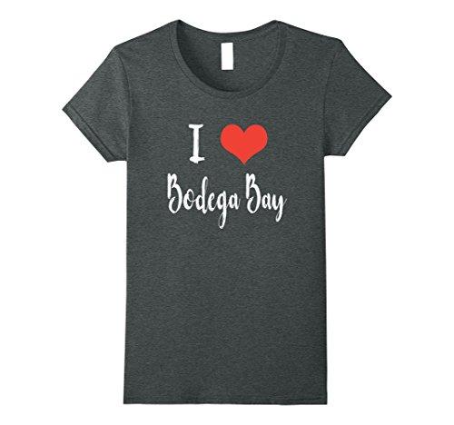 Womens I Love Bodega Bay T Shirt Medium Dark Heather