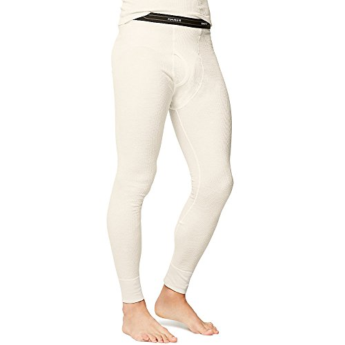 Hanes Men's Big Red Label X-Temp Thermal Pant, Natural, Large (Underwear Thermal Knit Natural Bottoms)