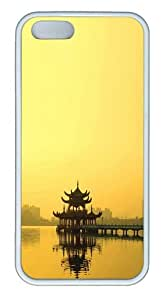iPhone 5S Case, iPhone 5S Cases - Japanese Skyline TPU Rubber Soft Case Back Cover for iPhone 5/5S White