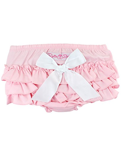 RuffleButts Baby/Toddler Girls Pink Chambray 0-3m ()