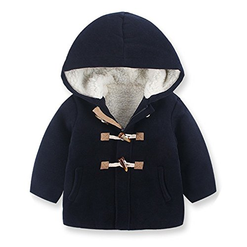 ol Peacoat Toggle Hooded Jacket Kids Windbreaker 2-8 years ()