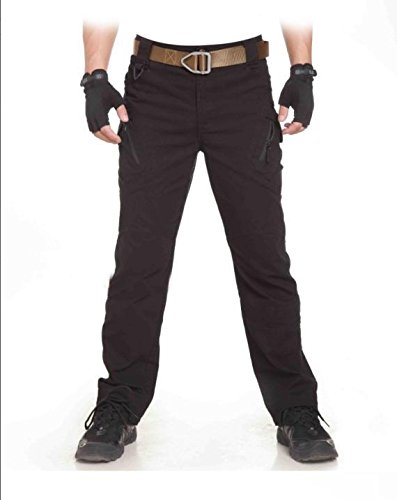 Heng Heng - TAD Archon IX9 Military Outdoors City Tactical Pants Men Spring Sport Cargo Pants Army Training Combat Everlast Outdoor Trousers (COLOR : BLACK | SIZE : L)