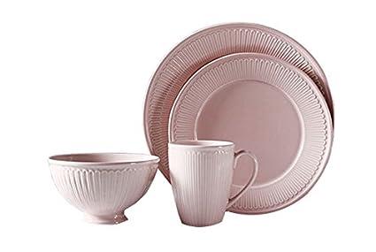 T Luxury Vintage Round Reactive Glaze Stoneware Dinnerware Set Service for 1  sc 1 st  Amazon.com & Amazon.com: Wablo.T Luxury Vintage Round Reactive Glaze Stoneware ...