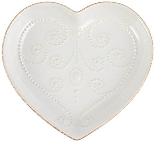 Lenox Heart (Lenox French Perle Heart Dish, White)