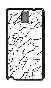 Samsung Note 3 Case materials broken glass 4 PC Custom Samsung Note 3 Case Cover Black