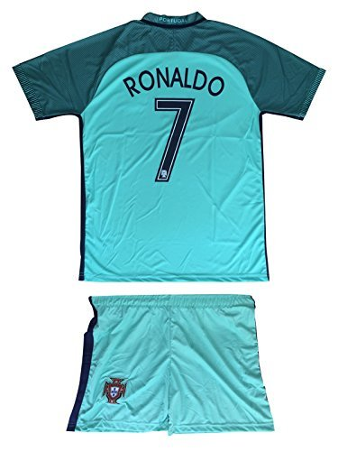 - New! - Portugal Euro 2016 #7 C.Ronaldo Away Soccer Kids Jersey & Shorts - Youth Sizes (S (4-5 Ages))