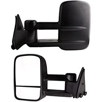 yitamotor towing mirrors compatible for 88-98 chevy gmc c/k 1500 2500 3500