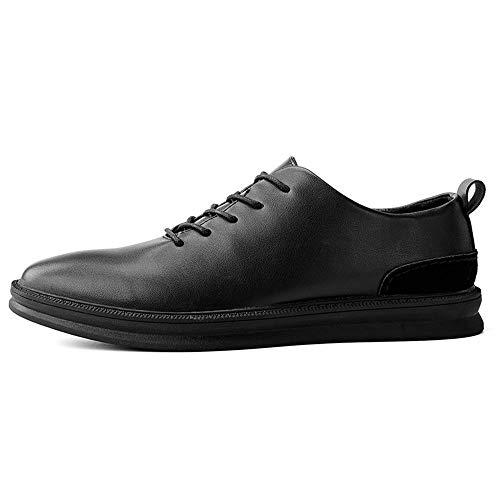 de 2018 41 tamaño los Oxford Oxford Hombres Informales shoes la Fang Black Low Invierno top Zapatos Low EU Zapatos Hombre de del de Casuales otoño Color Black e de Top Moda a5HqF