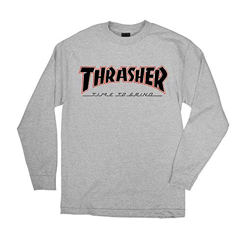 229b19aa30ca Independent Trucks x Thrasher Magazine Time to Grind Men's Long Sleeve T- Shirt - Athletic Heather - XL